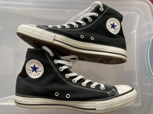 Converse All Star High Tops Black Chuck Taylor men's 10 Exce