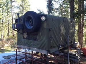 Military style truck canopy