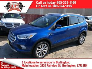2017 Ford Escape Titanium, Navigation, Back Up Camera, 4WD