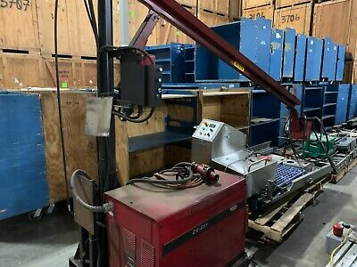 Lincoln Cv-655 Boom Mig Flux Core Welder With Ln10 Feeder Skid Mounted