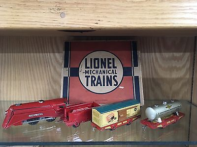 Lionel 1545 Mechanical Set OB - 1511 Loco, 1516 Tender, 1514 Box Car, 1515 Tank