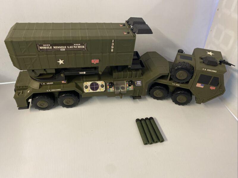 G.I. Joe Large Motorized Mobile Missile Launcher 2002 Vehicle Hasbro Tested!
