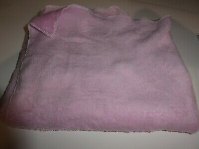"""Plush Baby Receiving Blanket fabric 26""""x30"""" fuzzy pink"""