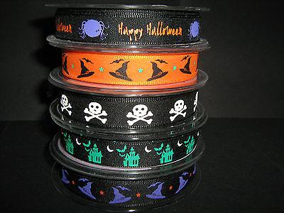 Halloween Themed Ribbon   6 Designs   1 METRE   Craft / Sewing / Cake Making