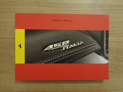 Ferrari 458 Italia Owners Handbook/Manual
