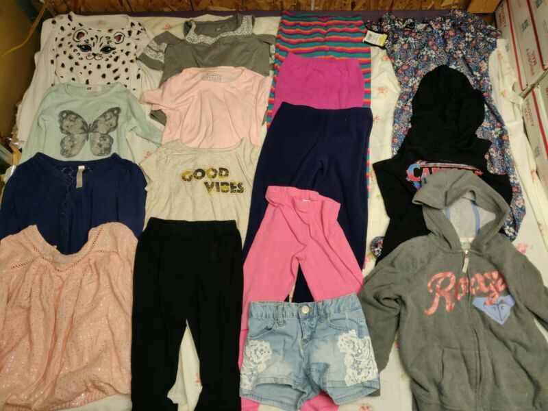 Girls  Size 7-8 Lot Of 16 Pieces Pre Owned Fall Winter