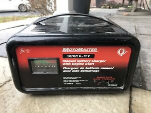 Motomaster 50 / 10 / 2 amp 12 v battery charger