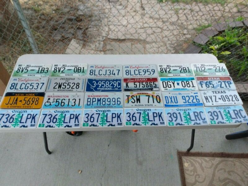24 MIXED STATE LICENSE PLATE LOT of 24 plate lot 20