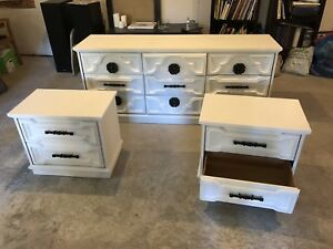 **Reduced Price** Solid Wood White Bedroom Set