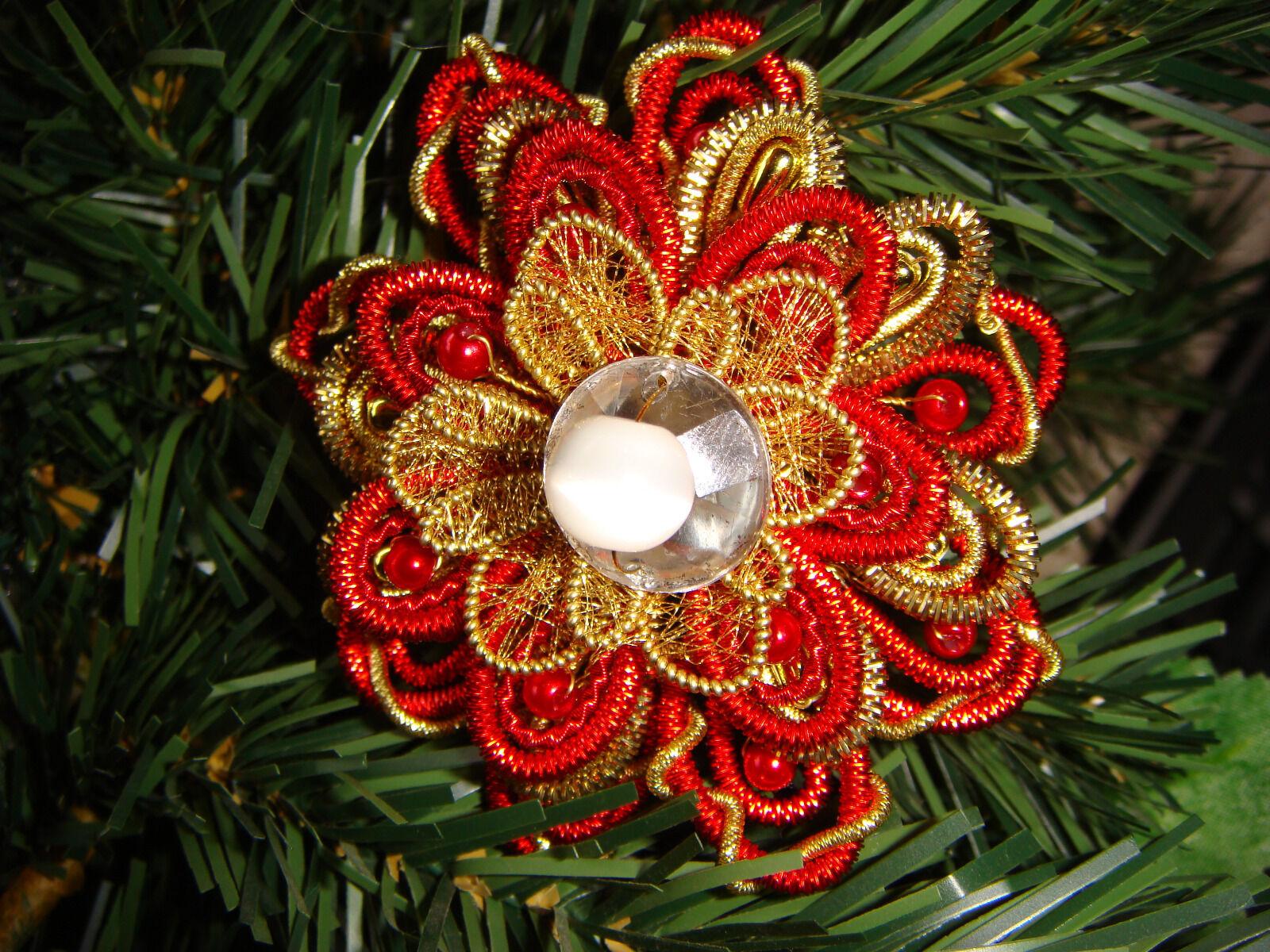 Klosterarbeit blumen serviettenring weihnachten dekoration schmuck blumenstrau eur 7 00 - Weihnachten dekoration ...