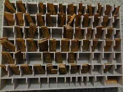 Small Brass Calligraphy Letters Numbers Master Engraving Plates Incomplete