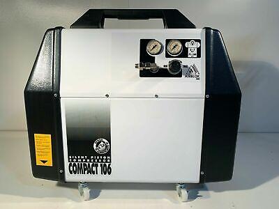 Compact 106 Silent Piston Portable Compressor 34 Hp Tank 1.5 Gallon Oil Less