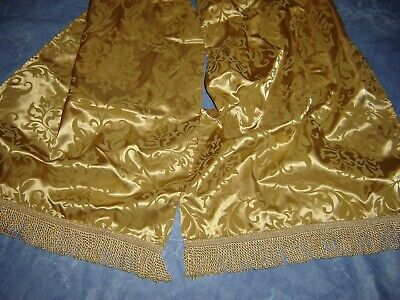 SET OF 6 ELEGANT GOLD THANKSGIVING HOLIDAY CHAIR SASHES BOWS 95 INCHES LONG NWOT ()