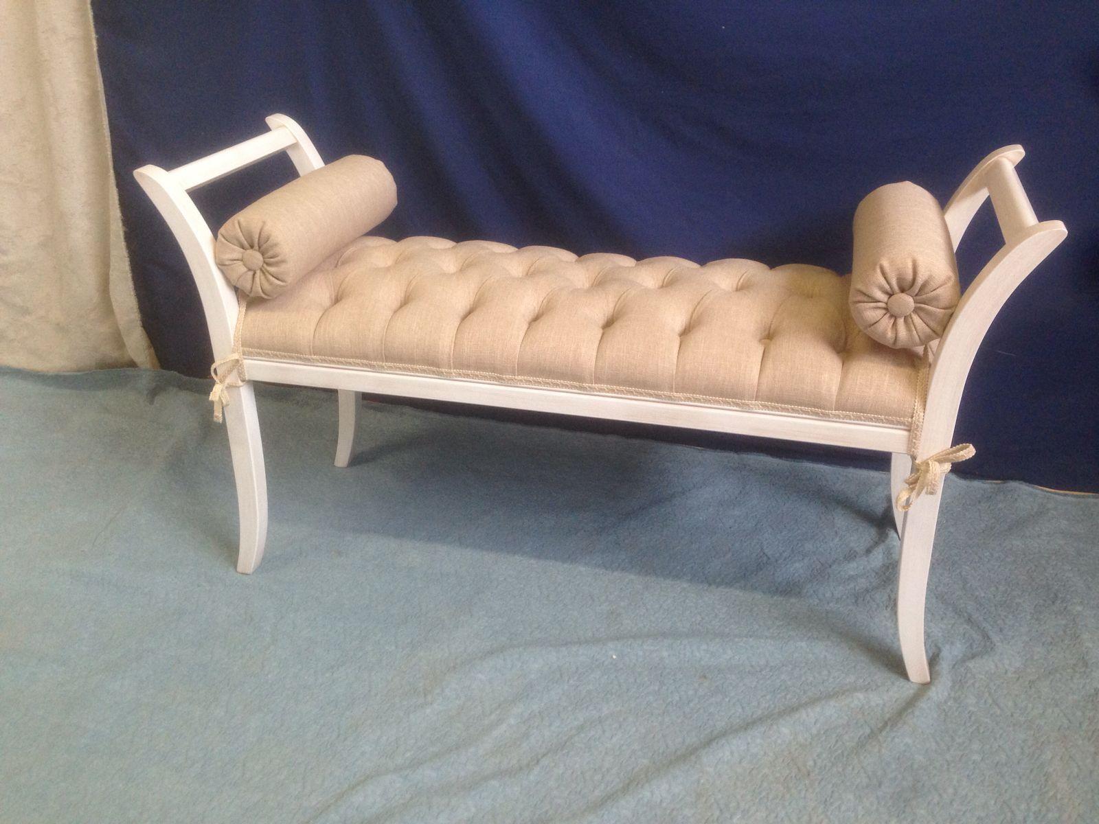 Camere Da Letto Anni 80 dettagli su divanetto avorio dormeuse panchetta imbottita camera da letto  ingresso
