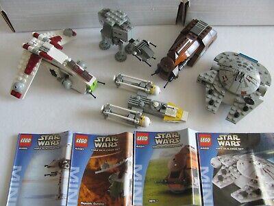 Lego Star Wars Mini Lot (4488, 4489, 4490, 4491) + Bonus Y-wing 100% Complete