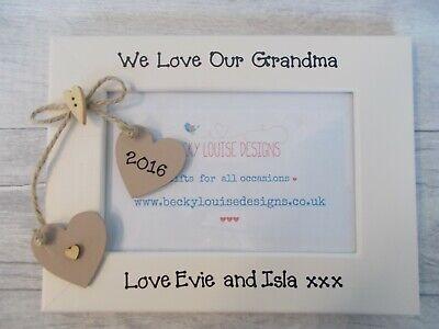 We Love Our Grandma Photo Picture Frame Birthday Keepsake Gift 6x4 5x7 8x6 10x8 Grandmas Keepsakes Antique