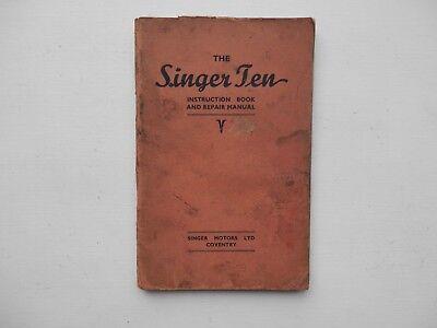 SINGER TEN 10 Owners Instruction Book and Repair Manual