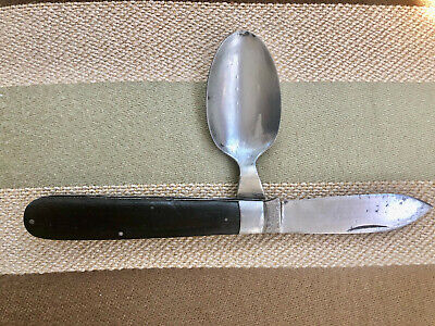 Camillus 9511 Red Cross knife from WW l. Very rare military. Knife & Spoon