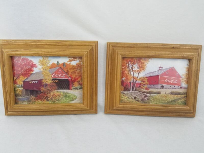 Coca-Cola Barn 2 Framed With Glass Pictures