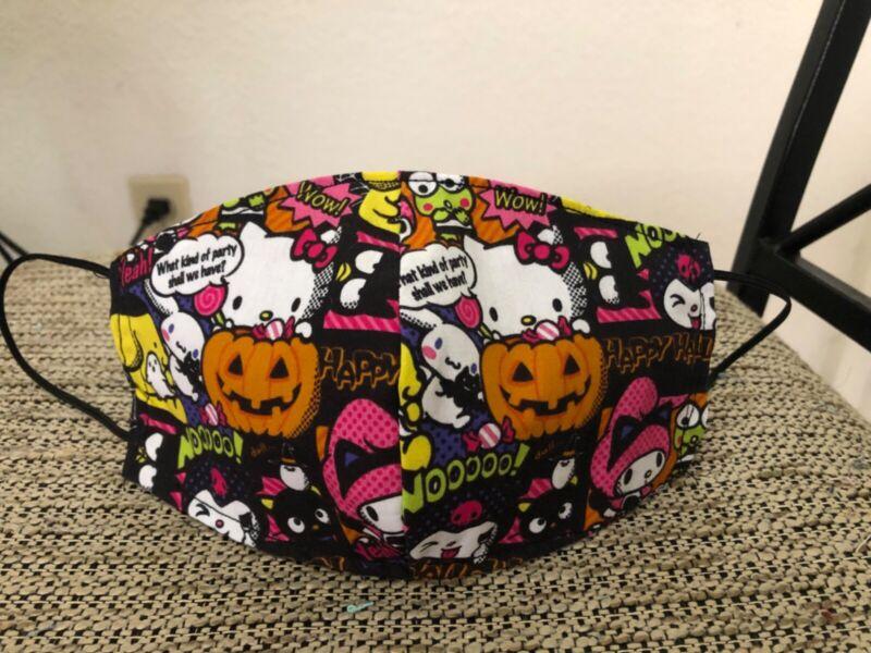 Sanrio Halloween 3D Cotton 3 Layer Hello Kitty Face Mask Adult RARE!