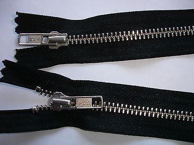 RV 365 Reißverschluß ykk schwarz 60cm, 2-Wege-RV 1 Stück