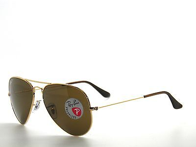 RAY BAN sunglasses 3025 GOLD/BROWN POLARIZED 001/57 AVIATORS 58