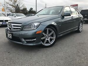 2012 MERCEDES BENZ C350-NAVI-BK CAM-AMG PKG-NO ACCIDENTS