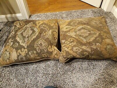 """Throw Toss decorative Pillows 18"""" x 18"""" Set of 2 Covered Inserts Couch Bed Decor for sale  Danvers"""