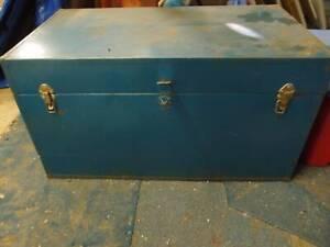 BLUE METAL BOX TRUNK