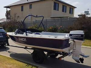 Fibreglass Voyager Hull Runabout Boat with Trailer 15.5'