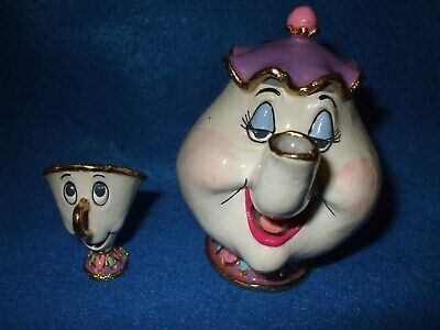 Rare Disney Beauty And The Beast Mrs. Potts Teapot, Chip teacup Solid metal (#d6](Chip Teacup Beauty And The Beast)