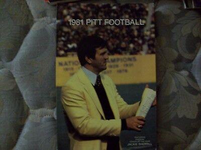 1981 Pitt Panthers Football Media Guide Yearbook Dan Marino Pittsburgh Book Ad