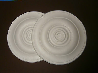 Decorators Bargain - 2 x Polystyrene Ceiling Rose 400mm^^^ Slightly Shop Soiled
