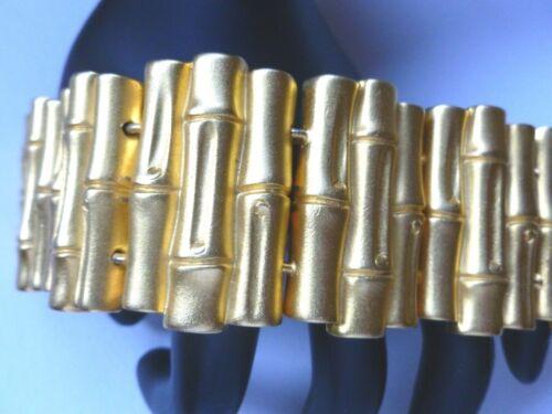Beautiful DONCASTER Vintage Gold Tone Bamboo Bracelet
