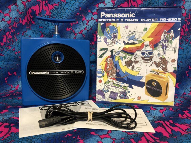Panasonic,  TNT, 8 Track Player,  Blue Serviced,  30 day Warranty  RQ 830s