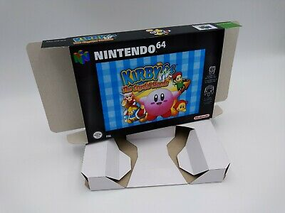 Kirby 64 the Crystal Shards - reproduction box with insert - N64 - Pal or NTSC.