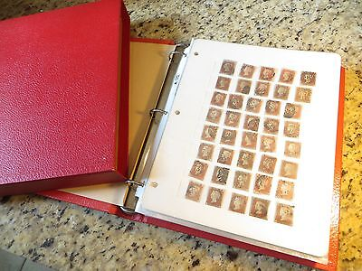 1,240 Imperf Penny Reds GB Scott# 3- Vintage Album & Stock Pages $25,000+/- CV