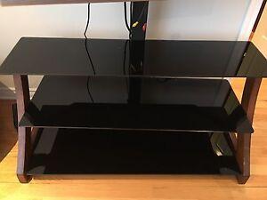 Meuble TV en vitre avec support TV