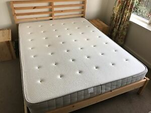 Queen Mattress pocket sprung, medium firm with mattress topper Prahran Stonnington Area Preview