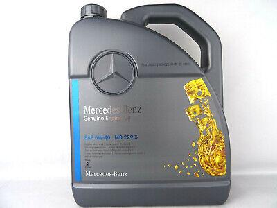 Mercedes Benz 5W40 MB 229.5 Genuine Original Öl 5Liter A000989920213AIFE NEU