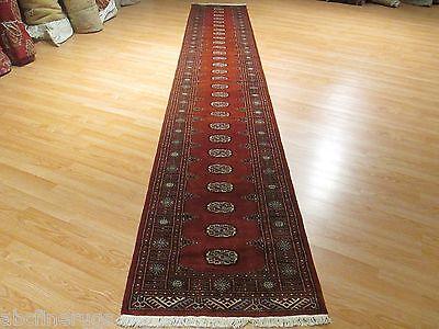 16 FEET Runner FINE Bokhara Allover-Pattern Handmade-knotted Rug Wool 583031