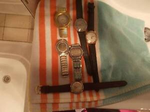 BULK LOT OF MEN/S VINTAGE WATCHES. ALL WORKING (1950's,60). MINT Claremont Meadows Penrith Area Preview