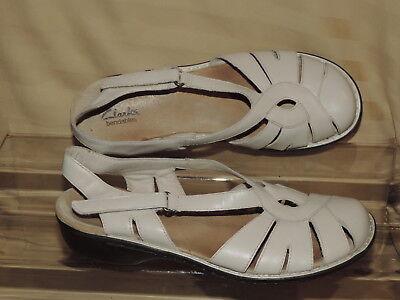 Ivory Leather Mary Jane (Clarks 37519 Women's 10 Ashland Spin Q Mary Jane's Ivory Leather Hook Loop VGC )