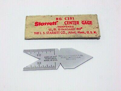 Starrett Center Gage 60 Degree - No. C391 New