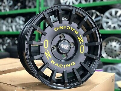 15 Inch Black Wheels - New 15 inch OZ Rally Design Rim (Set of 4) Honda Fit 4x100 Mazda Toyota