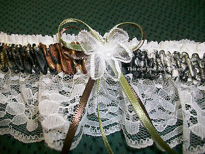 Satin CAMO Plus Size Wedding Garter](Plus Size Wedding Garter)