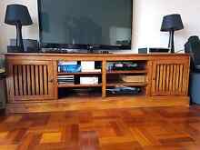 Entertain Unit - solid hard wood Lilli Pilli Sutherland Area Preview