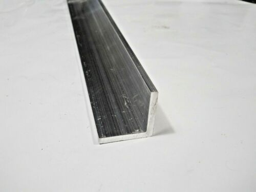 """2 Pieces 1"""" x 1"""" x 11-1/2"""" Long 1/8"""" thick  ALUMINUM 6061 ANGLE T6 Mill Stock"""