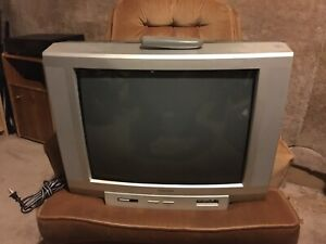 "19"" Toshiba colour TV model # 20A44."