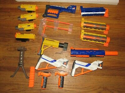 Nerf N Strike Gun ACCESSORY LOT Attachment, Light Scope, Shoulder Stock, Grip